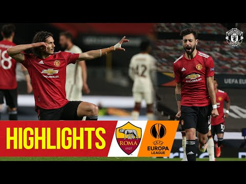 Reds hit Roma for Six | Manchester United 6-2 Roma | UEFA Europa League | Fernandes, Cavani, Pogba