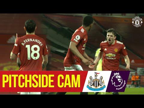 Pitchside Cam   Rashford, James & Fernandes net v Newcastle!   Manchester United 3-1 Newcastle