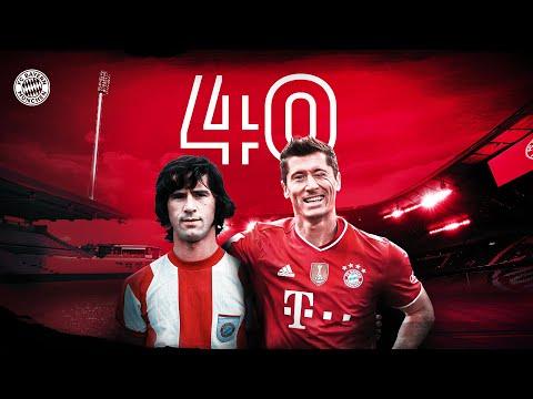 Robert Lewandowski equals Gerd Müller's 40-Goal Record!