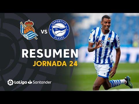 Resumen de Real Sociedad vs Deportivo Alavés (4-0)